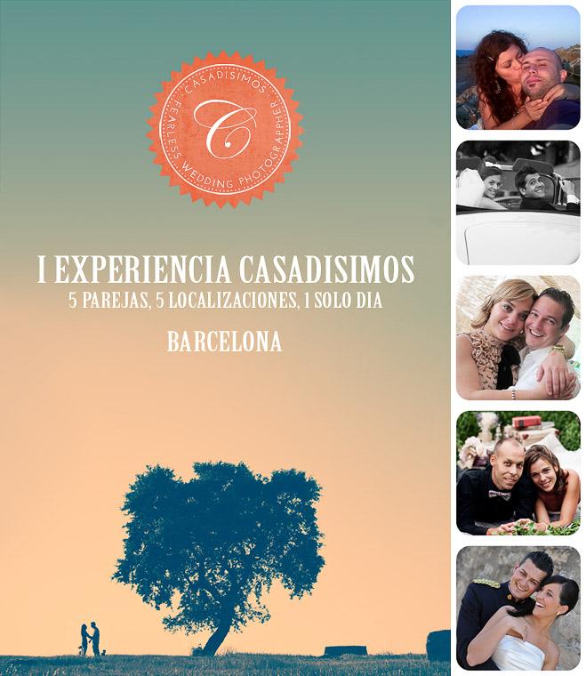 Los ganadores de la I Experiencia Casadisimos en Barcelona
