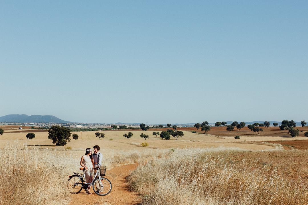 Preboda en bici muy romántico: Paloma & Melchor